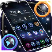 HD Dark Blue Launcher Theme icon