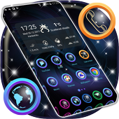 HD Dark Blue Launcher Theme icon