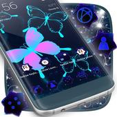 Neon Butterflies Launcher icon