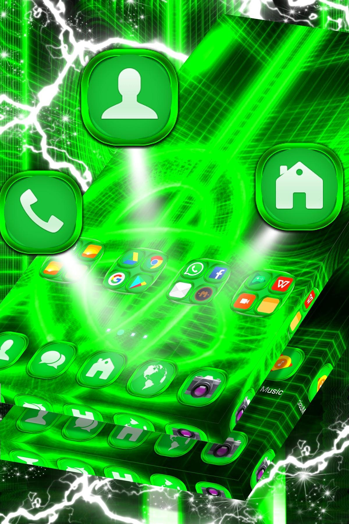 Neon Green Abstract Logo Launcher For Android Apk Download