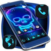 Neon Skull Launcher icon