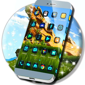 Green Landscape Launcher Theme icon