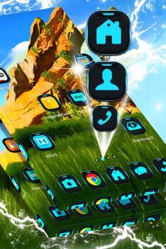 Green Landscape Launcher Theme screenshot 3