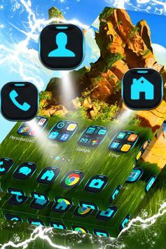 Green Landscape Launcher Theme apk screenshot