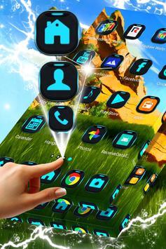 Green Landscape Launcher Theme screenshot 4