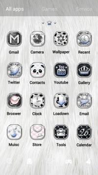 Noble Panda GO Launcher Theme apk screenshot