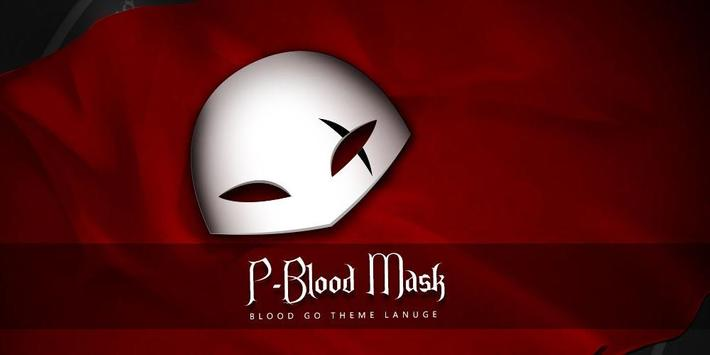Blood Mask GO Launcher Theme apk screenshot