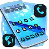 Blue Waves Launcher Theme icon