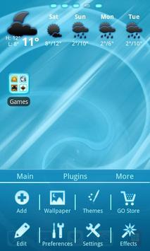 Blue Chill Go Launcher Ex screenshot 1