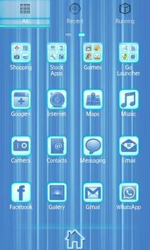 Blue Chill Go Launcher Ex apk screenshot