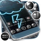 Blue Neon Launcher icon