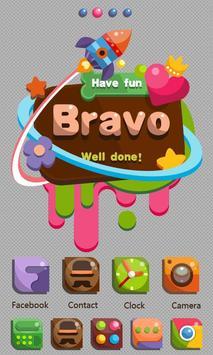 Bravo GO Launcher Theme poster
