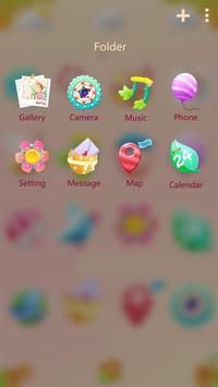 Cute garden GO Launcher Theme apk screenshot