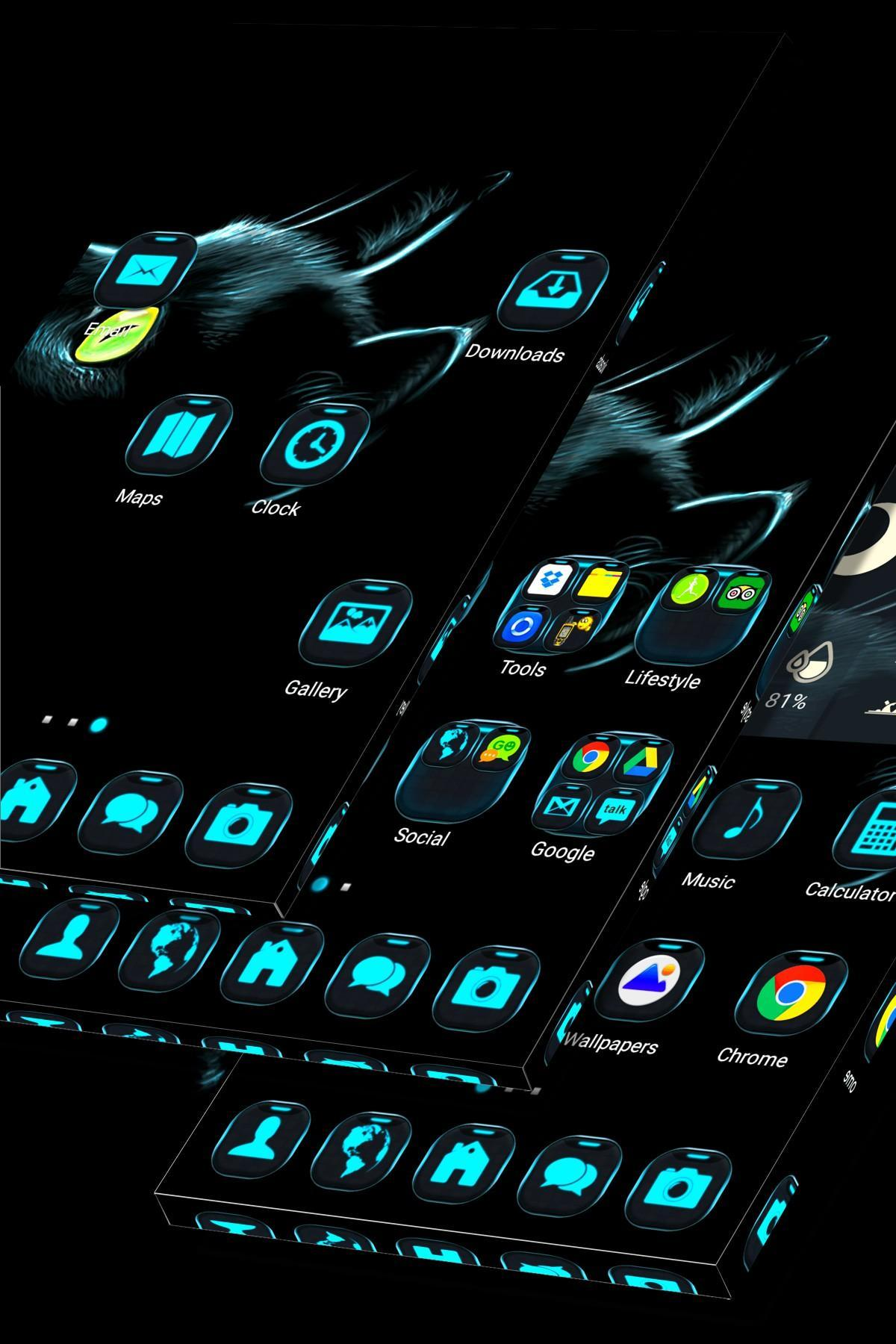 3D Black Cat Launcher For Android APK Download