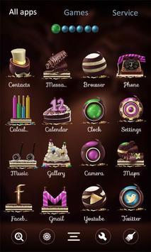 Chocolate GO Launcher apk screenshot