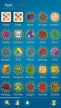 Fireworks GO Launcher EX Theme screenshot 1