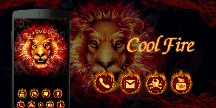 Cool Fire  GO Launcher Theme apk screenshot