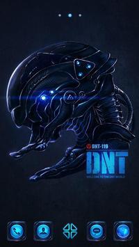 DNT Robot GO Launcher Theme poster