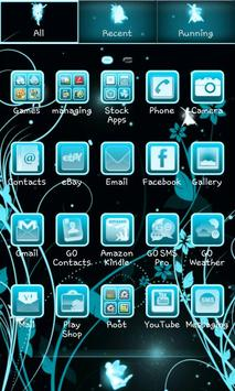 Fairy Blue Go Launcher Ex apk screenshot