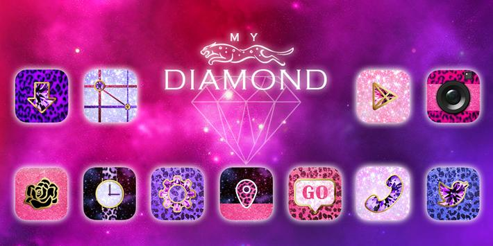 My Diamond GO Launcher Theme poster