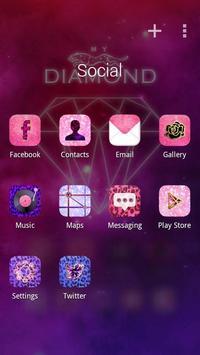 My Diamond GO Launcher Theme apk screenshot
