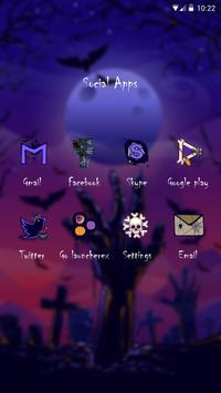 Mysterious Halloween GO Launcher Theme screenshot 2
