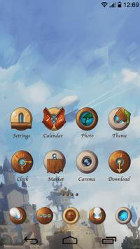 Magic Sky GO Launcher Theme apk screenshot