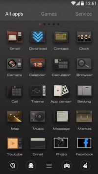 ModernRetro GO Launcher Theme apk screenshot