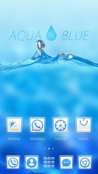 Aqua Blue GO Launcher Theme apk screenshot