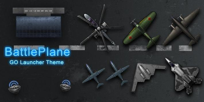 Battle Plane Go Launcher Theme apk screenshot