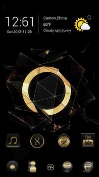 Black Gold Go Launcher Theme poster
