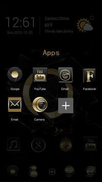 Black Gold Go Launcher Theme apk screenshot