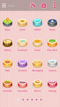 (FREE)Cake Diary GO Theme screenshot 1