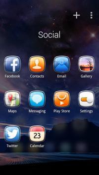 Crystal GO Launcher Theme apk screenshot