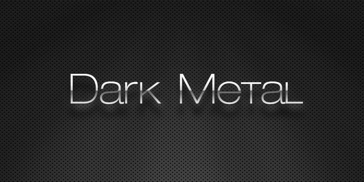 (FREE) Dark Metal GO Theme apk screenshot