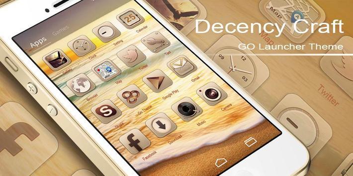 Decency Craft GOLauncherTheme apk screenshot