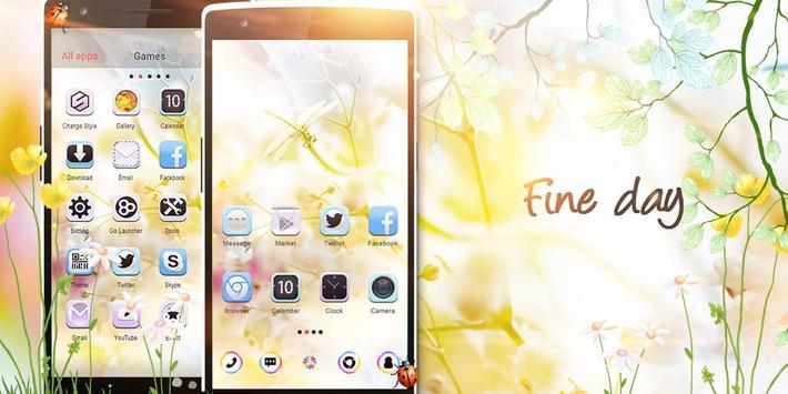 Fine Day GO Launcher Theme screenshot 4