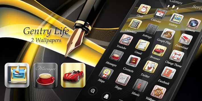 Gentry Life GO Launcher Theme apk screenshot