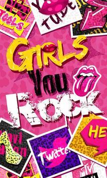 Girls Rock GO Launcher Theme poster
