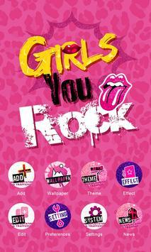 Girls Rock GO Launcher Theme screenshot 4