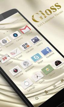 Gloss GO Launcher Theme poster