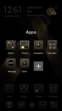 Golden Tornado Go Launcher Theme apk screenshot