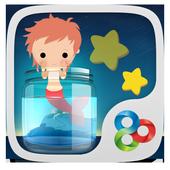 Goldfish Princess GO Theme icon