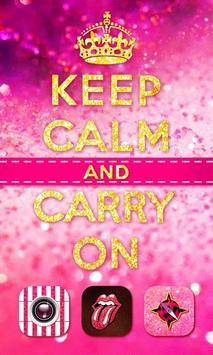 Keep Calm Girl GO Theme poster