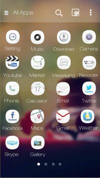 Love Is White GOLauncher Theme apk screenshot