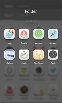 Pure White GO Launcher Theme apk screenshot
