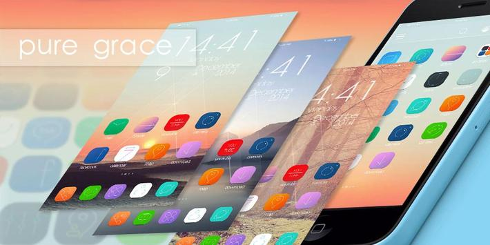 Pure Grace GO Launcher Theme apk screenshot