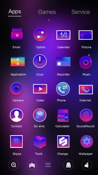 Purple Passion Go Launcher Theme apk screenshot