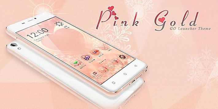Pink Gold GO Launcher Theme screenshot 7