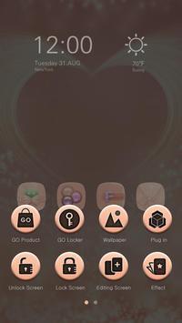 Pink Gold GO Launcher Theme screenshot 6